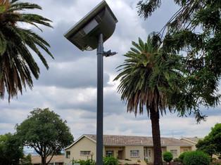 Solarstreet 10w Solar LED Flood 4m pole