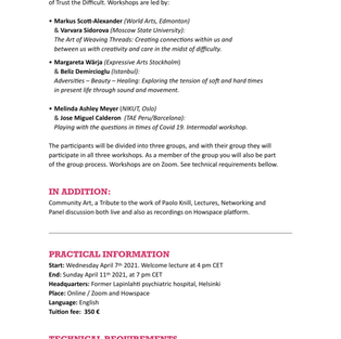 33rd Expressive Arts Symposium (ONLINE)