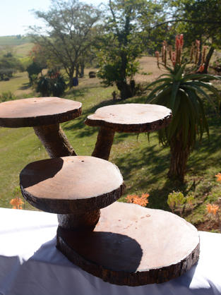 Natural Wooden Cake Stand
