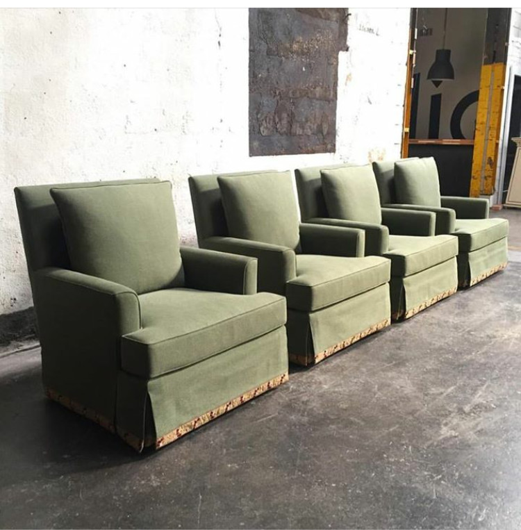 Bjork's Jane Chair with Custom Upholstery