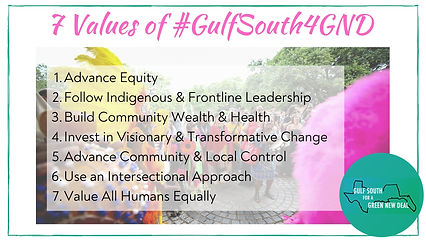 7 Values of #GulfSouth4GND - Infographic