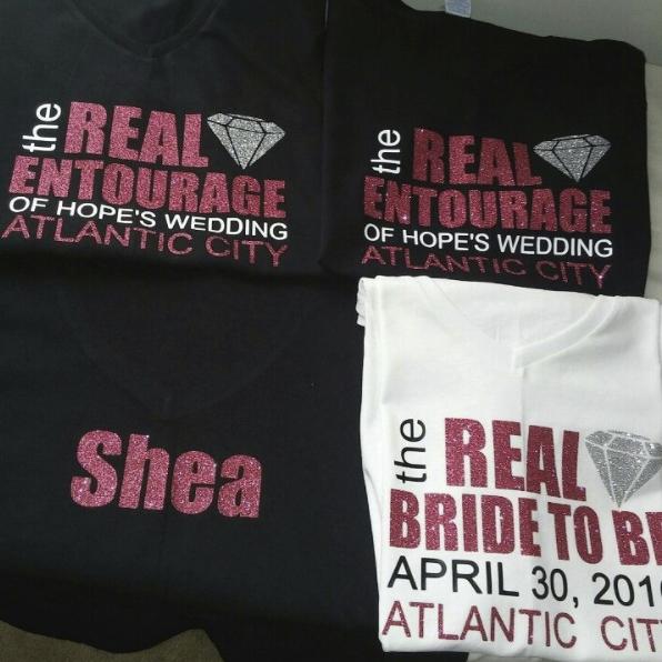 Custom Real Entourage Bridal Tees