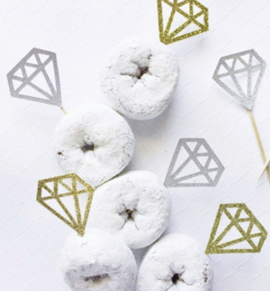 Diamond Confetti Toppers - Large