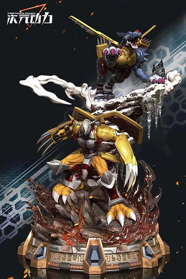 【DIMENSION POWER】 - Wargreymon and MetalGarurumon
