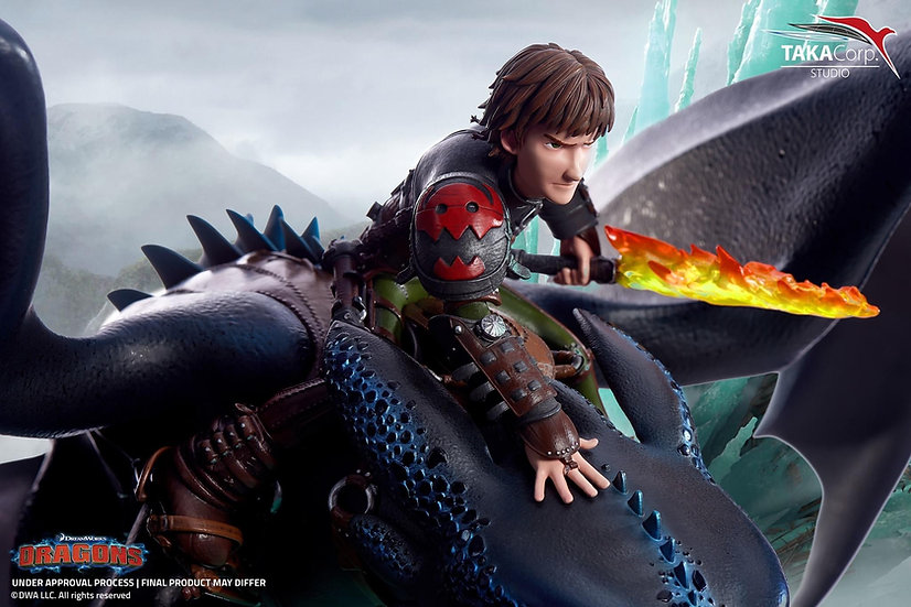 TAKACORP - How To Train Your Dragon:  Hiccup & Toothless 1/6 Statue