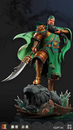 IMMORTALS COLLECTIBLES - Guan Yu Chinese Super Hero Statue