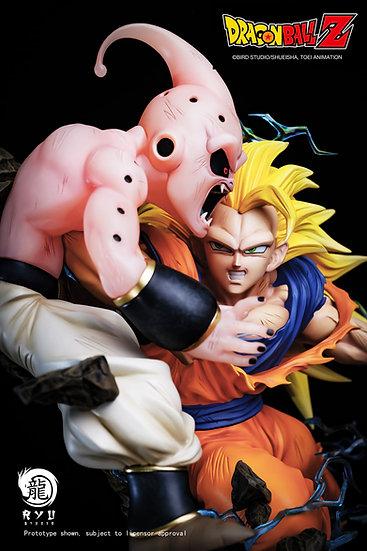 RYU STUDIO - Dragon Ball Z SSJ3 Goku vs Kid Buu 1/6 Licensed Statue