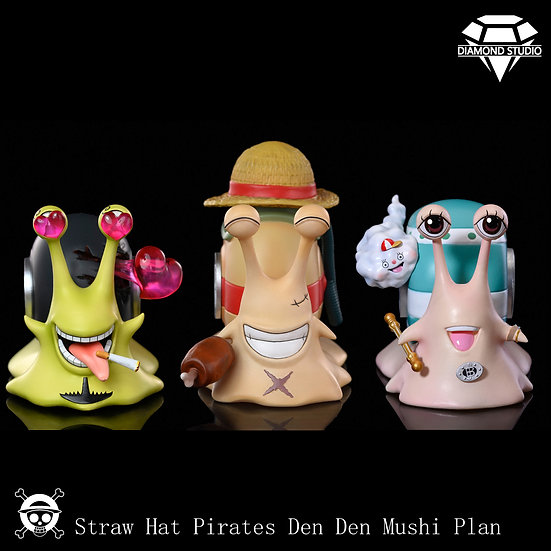 【DIAMOND STUDIO】 - Den Den Mushi Luffy, Nami and Sanji