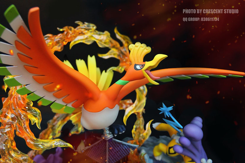 【CRESCENT STUDIO】 Ho-Oh and 3 Legendary Beasts