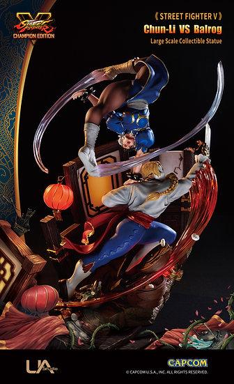 UNIQUE ART STUDIO -1/6 Chun Li vs Balrog   Street Fighter V Licensed Statue