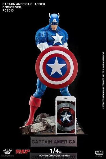 KING ARTS x HIGH FLY STUDIO -  Captain America Comic Version 1/4 Licensed Statue