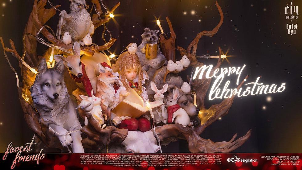 EIN STUDIO x ENTEI RYU - Merry Christmas Forest Friends Original Statue