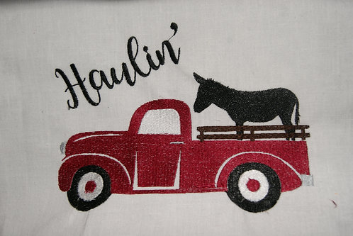 Donkey Haulin' in Red Truck Filled Design