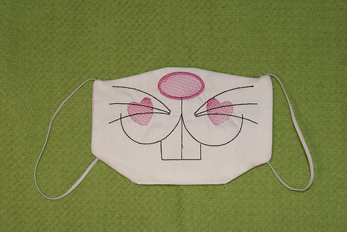 Bunny Mask In The Hoop 5x7 Embroidery Digital Design