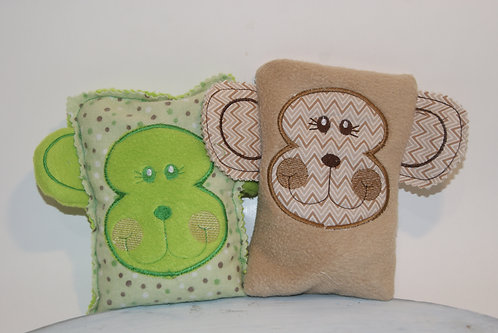 Monkey Boo Boo Rice Heat Cold Pack Bag