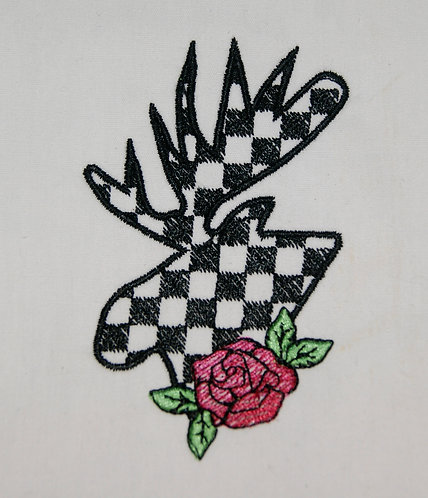 Moose Checkered with Rose