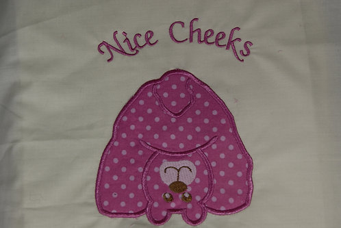 Nice Cheeks Applique Bear