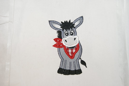 Donkey Applique Boy to go with Gnome Cowboy