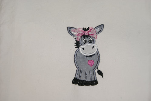 Donkey Applique Bandana Girl to go with Cowgirl Gnome