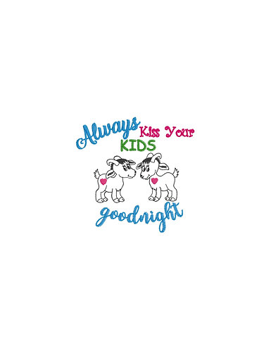 Goats, Always Kiss Your Kids Goodnight Outline