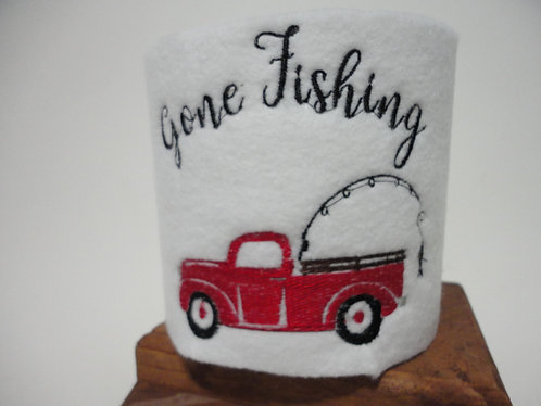 Truck Red Gone Fishing