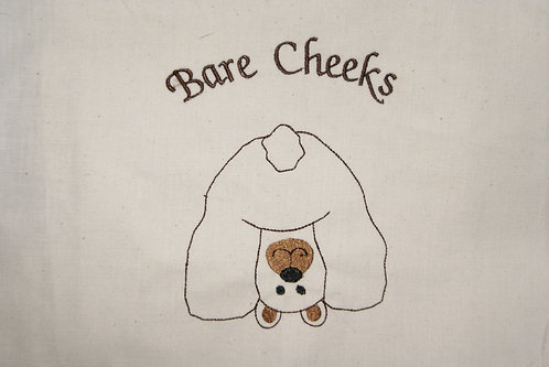 Bear Bare Cheeks Outline Toilet Paper Design