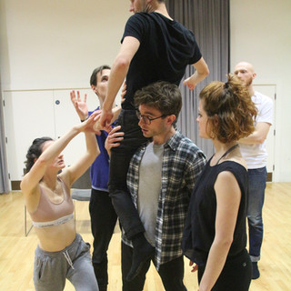 choreographing the dream sequence in Venus & Adonis