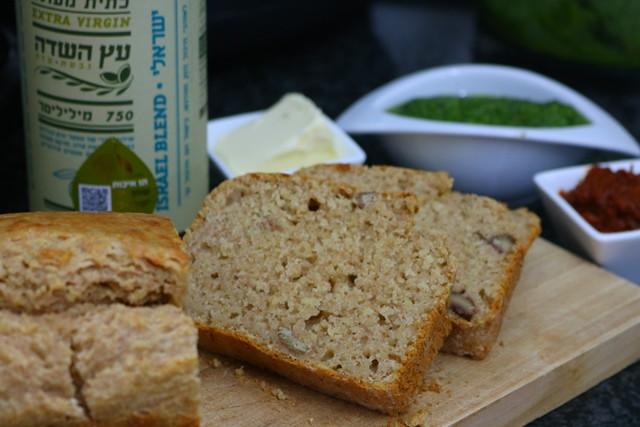 הלחם בורגול מהיר עם שמן זית בלנד ישראלי עץ השדה
