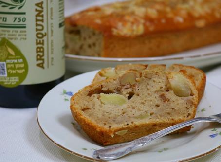 עוגת ארבקינה ותפוחים
