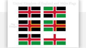 United Kingdom of England and Wales Flags