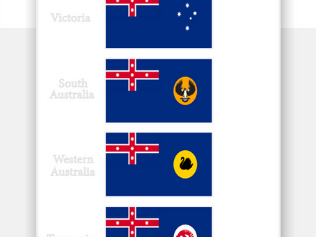 Kingdom of Australia State Flags
