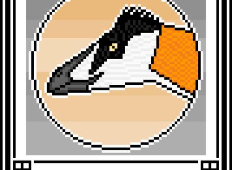 Pixel-Art Deinonychus