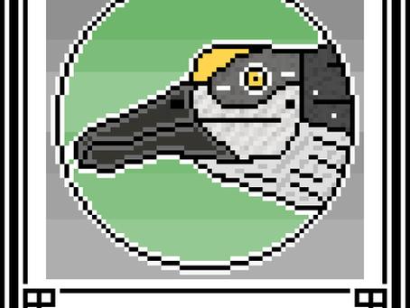 Pixel-Art Spinosaurus