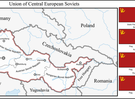 Union of Central European Soviets Map