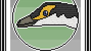 Pixel-Art Compsognathus