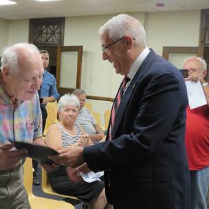 Bob Pecoraro with WWII Vet Bill Gosch
