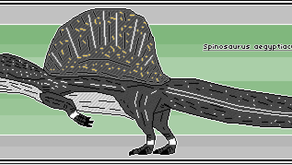 Pixel-Art Spinosaurus aegyptiacus