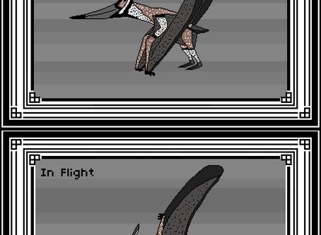 Pixel Pteranodon longiceps