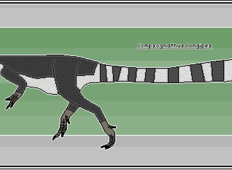 Pixel-Art Compsognathus longipes