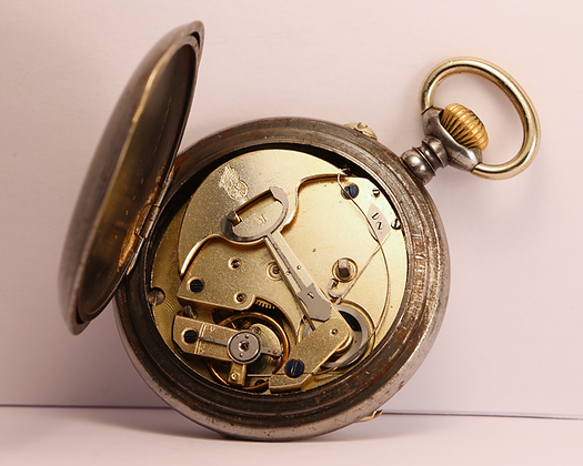 Rare self winding pocket watch circa 1900