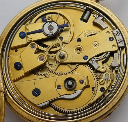 Drepres London, gold watch with quarter repeater