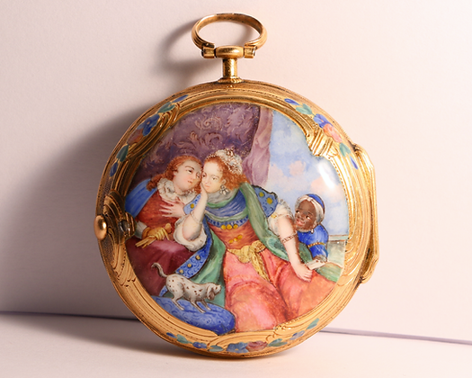 Julien Le Roy, 18K gold and enamel circa 1750