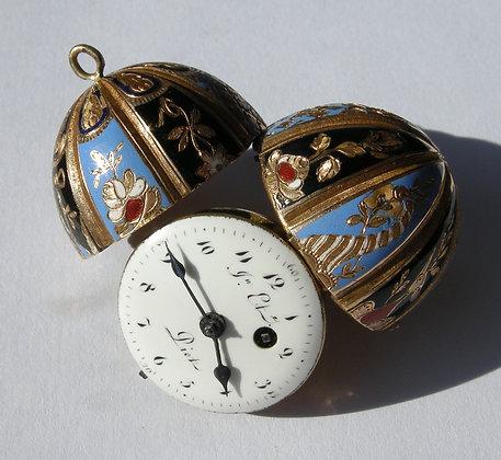 Piot à Genève, very rare egg shaped gold watch