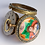 Thumbnail: Enameled pocket watch with stones