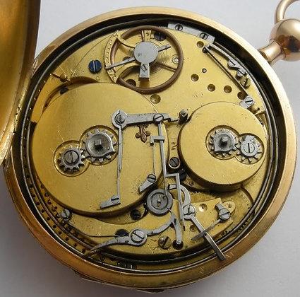 18K gold musical pocket watch