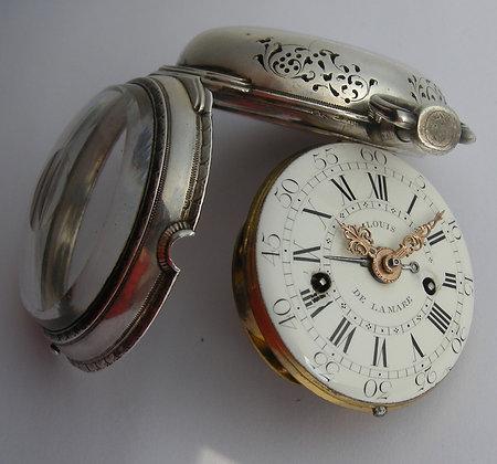 Louis Delamare, verge watch with alarm c.1770