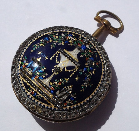 Beautiful enameled watch circa 1780