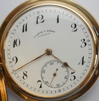A. Lange & Söhne, 18K gold hunter case watch
