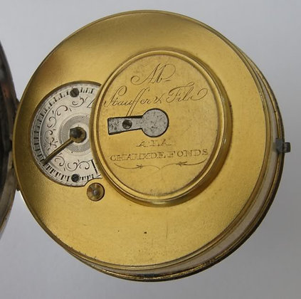 Stauffer & Fils, verge watch with dust cover