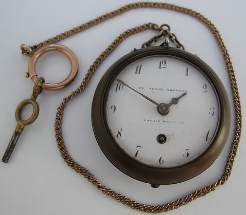 Ch. Oudin wooden watch for widows